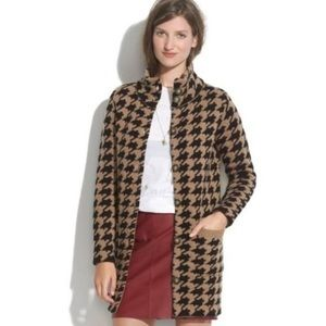 """Madewell """"Wallace Line"""" Houndstooth Sweater Coat"""